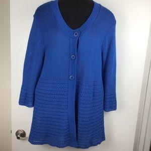 LANE BRYANT Blue Bell Sleeve Cardigan Sweater